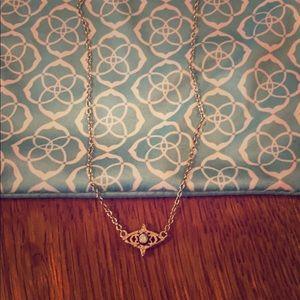 "Kendra Scott ""Caleb"" pendant necklace, color:gold"